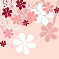 romantic flower background vector illustration