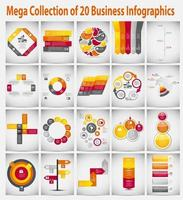 mega colección infografía plantilla concepto de negocio vector il
