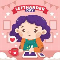 Left Handers Day Greeting Card vector
