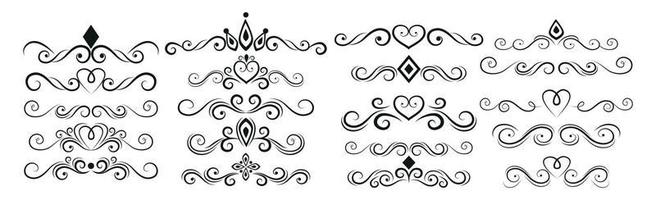 Seth selection of various line ornaments elements - Vector