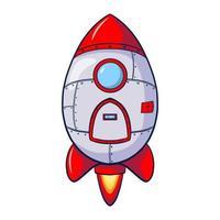 Cartoon Rocket Icon vector