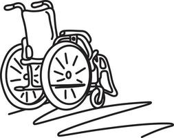 wheelchair with copyspace vector illustration