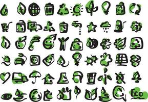 Simple set of  ecology icons vector illustration