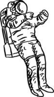 doodle astronaut vector illustration sketch hand drawn