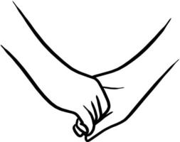 holding hand of lovers vector illustration