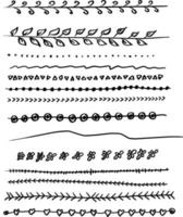 dividers and borders vector illustration sketch hand drawn