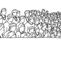crowd of Indian people background vector