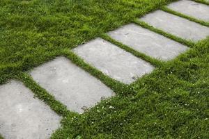 Lawn pavement for pedestrians photo