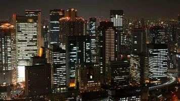 Horizon de la ville d'Osaka laps de temps au Japon video