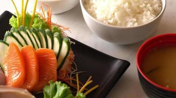 Fresh raw fish sashimi - Japanese food style video