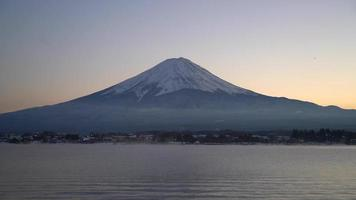 Fuji Mountain with lake in Japan video