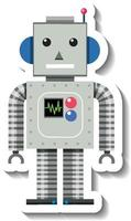 Robot toy cartoon on white background vector