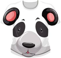 Front of t-shirt with panda face pattern vector