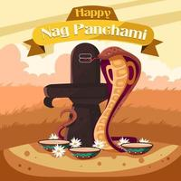 Nag Panchami Concept with Warm Color vector