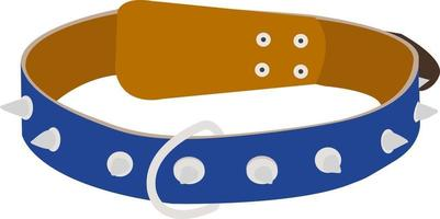 Dog collar. Vector illustration isolated on white background.