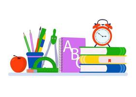 School supplies design.   Vector illustration