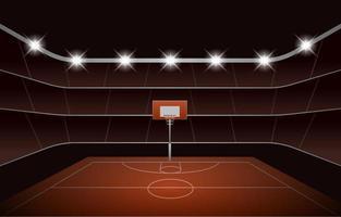 Basket Ball Stadium Background vector