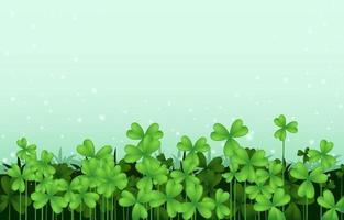 Green Clover Scenery Background vector
