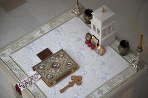 Prebilovci, Bosnia and Herzegovina 2021- Church of Resurrection of Christ altar photo