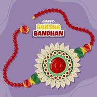 pulsera rakhi dibujada a mano para la celebración raksha bandhan vector