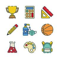 Icon of Back to High School with Protocol vector