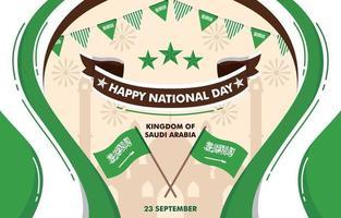 Saudi Arabia National Day Background vector