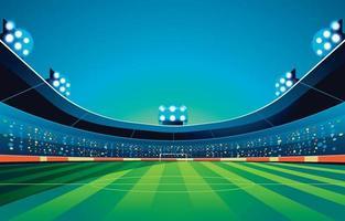 Stadium Football Background at Night vector