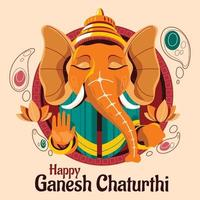 Happy Ganesh Chaturthi Concept vector