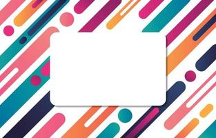 Rounded Colorfull Abstract Background vector