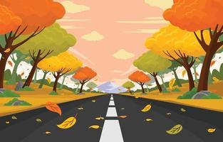 Autumn Road Background vector