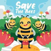 Honey Bee Protection vector