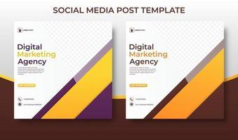 Digital Marketing Agency Social Media template. vector