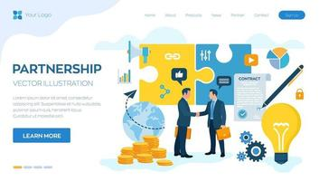 Partnership Concept. Financing of creative projects. vector