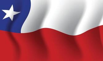 Waving Chile flag. Background for patriotic national vector