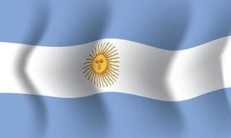 ondeando la bandera argentina. fondo para patriótico nacional vector
