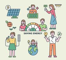 Saving energy for environment vector