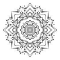 Mandala pattern design with hand drawn vector