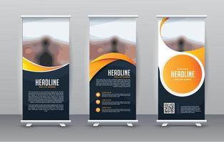 Business Roll Up Set. Standee Design. Banner Template vector