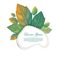 frame leaf for quote vector