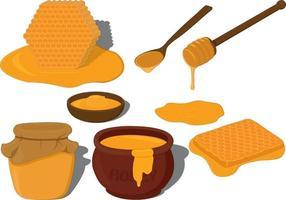 Fresh honey collection vector illustration