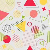 Memphis style abstract seamless pattern vector