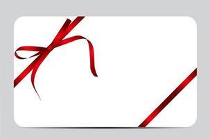 tarjeta de regalo con lazo rojo y lazo. ilustración vectorial vector