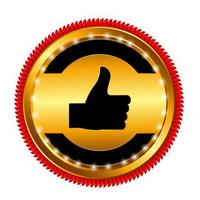 Best Choice Label with Red Ribbon. Vector Illustration