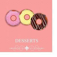 Vector dessert menu in Valentine day style