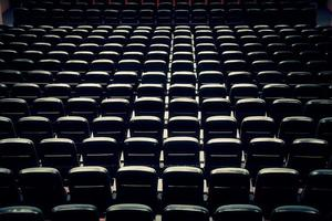 vista de sillas de cine abstracto foto