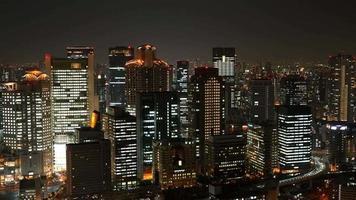 time lapse osaka city skyline i japan video