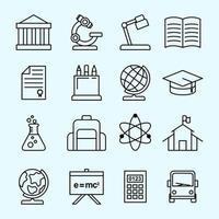 University Icon Set Template vector