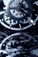 Retro Abstract Industrial Vintage Technology Clock photo