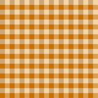 Orange Brown Gingham Tablecloth Pattern vector