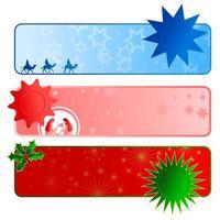 Christmas Border Banner Collection vector